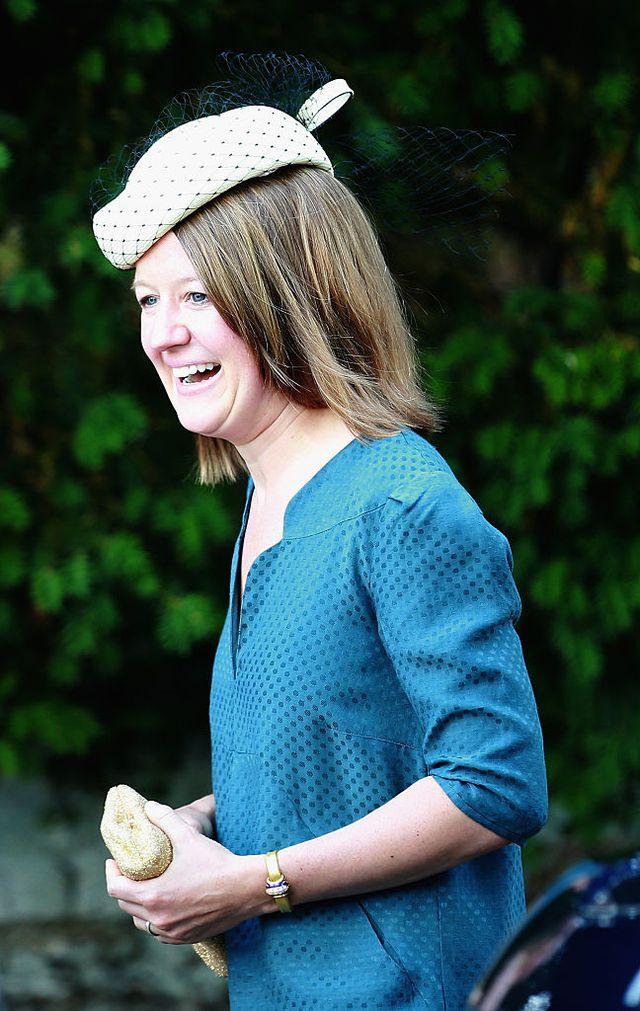 Лаура Феллоуз при крещении принцессы Шарлотта в 2013 году
