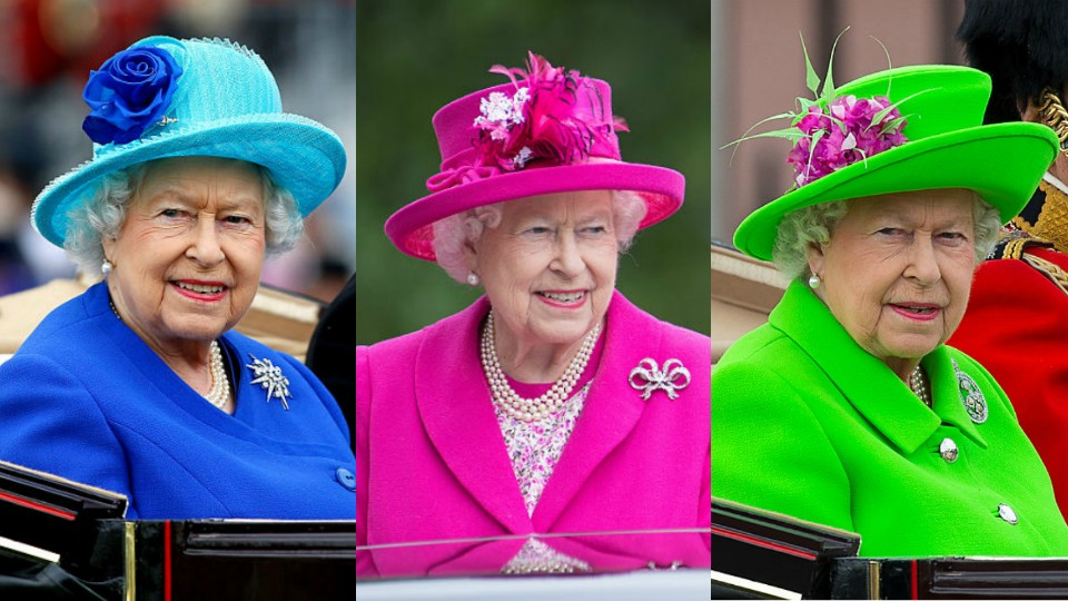 Почему королева Елизавета носит неоновые наряды
