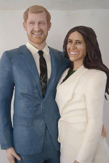 Принц Гарри и Меган Маркл в качестве торта