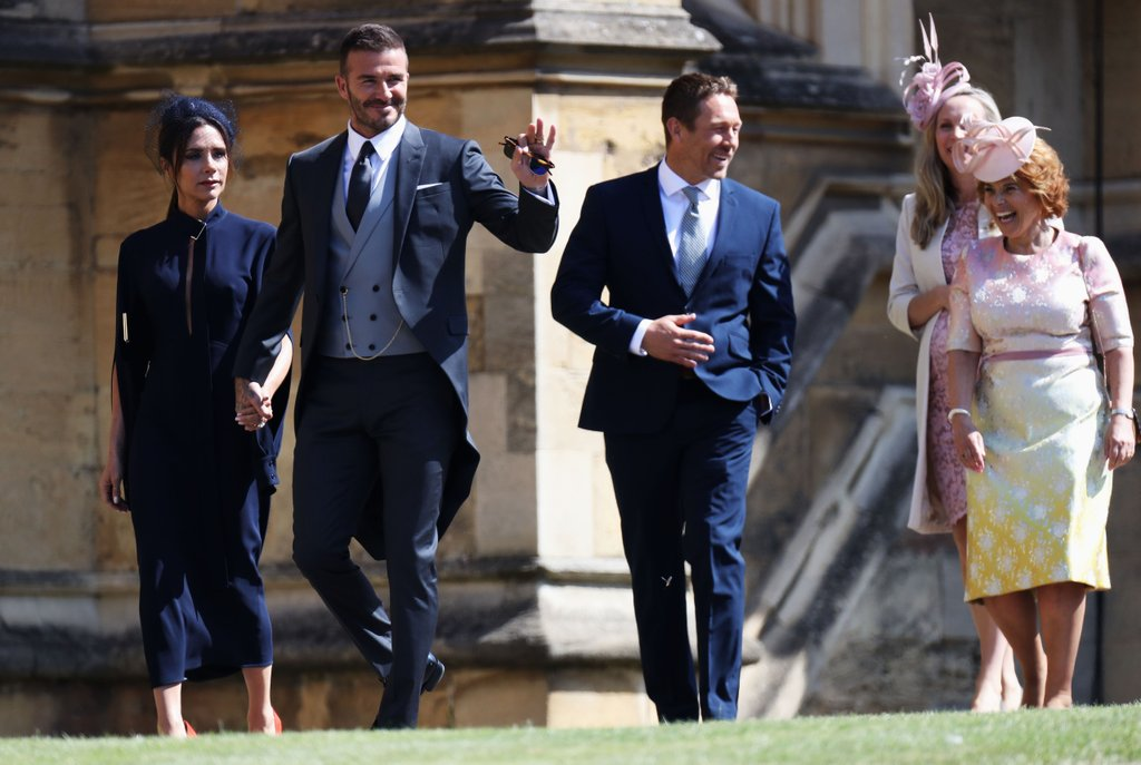 бекхэмы на свадьбе принца гарри