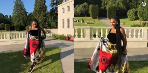 Серена Уильямс надела кроссовки под вечернее платье на свадьбе Меган Маркл и принца Гарри