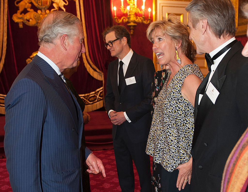 Prince Charles and Emma Thompson | Eddie Mulholland/AFP/Getty Images