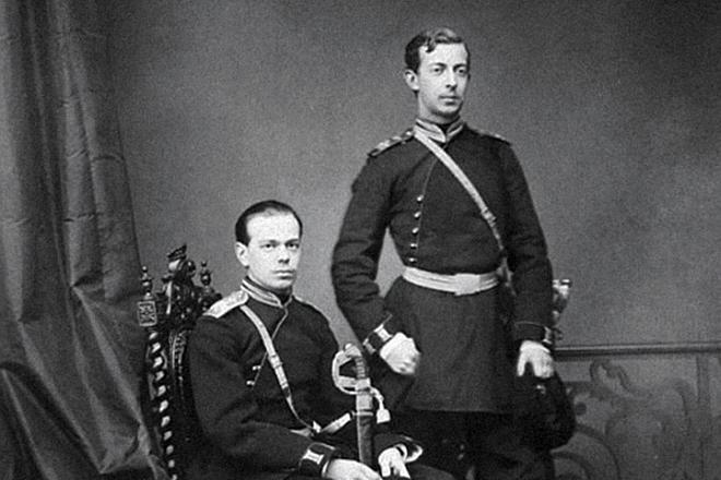 Цесаревичи Николай и Александр