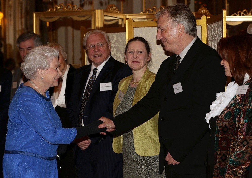 Королева Елизавета II и Алан Рикман