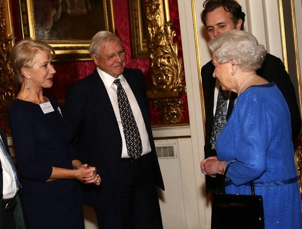 Елена Миррен и королева Елизавета II
