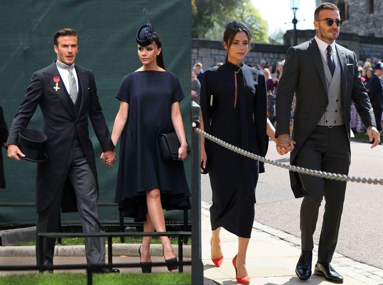Beckhams на королевских свадьбах 2011 и 2018.