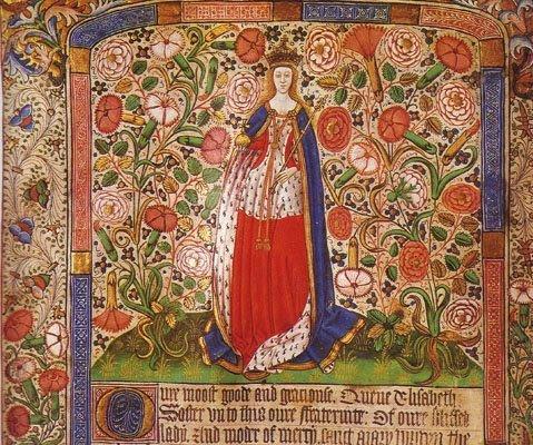 Елизавета Вудвилл. Средневековое изображение