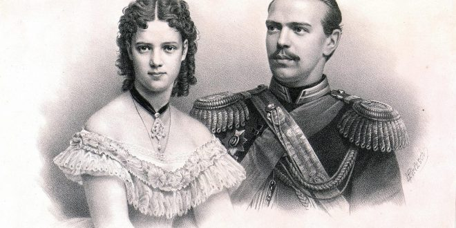 Цесаревич Александр и принцесса Дагмар