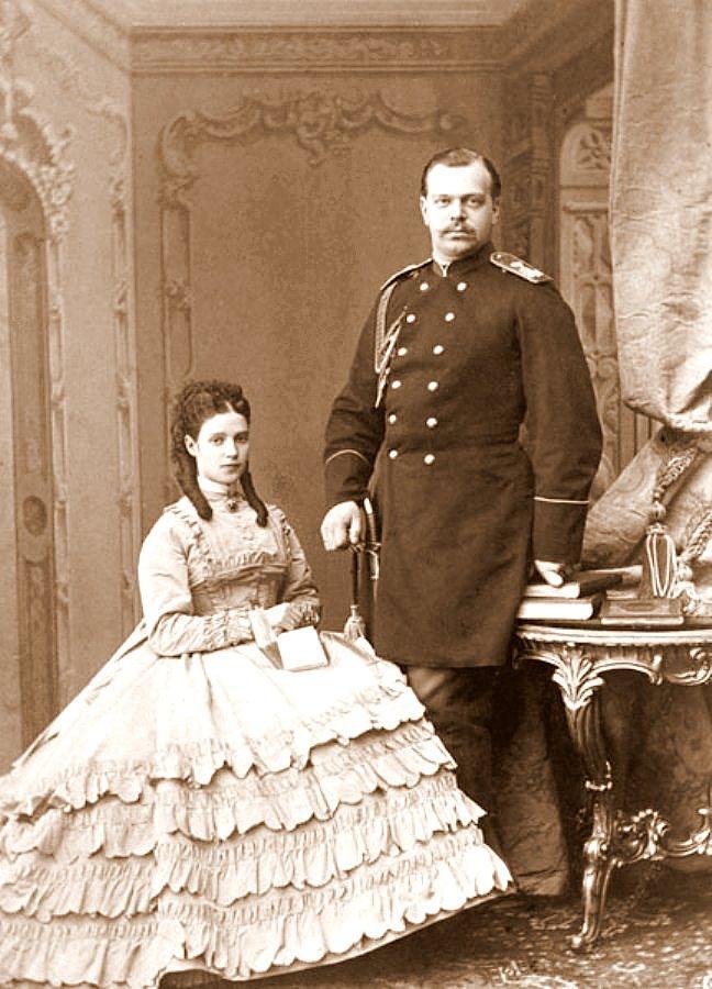 Александр III и Мария Федоровна в молодости