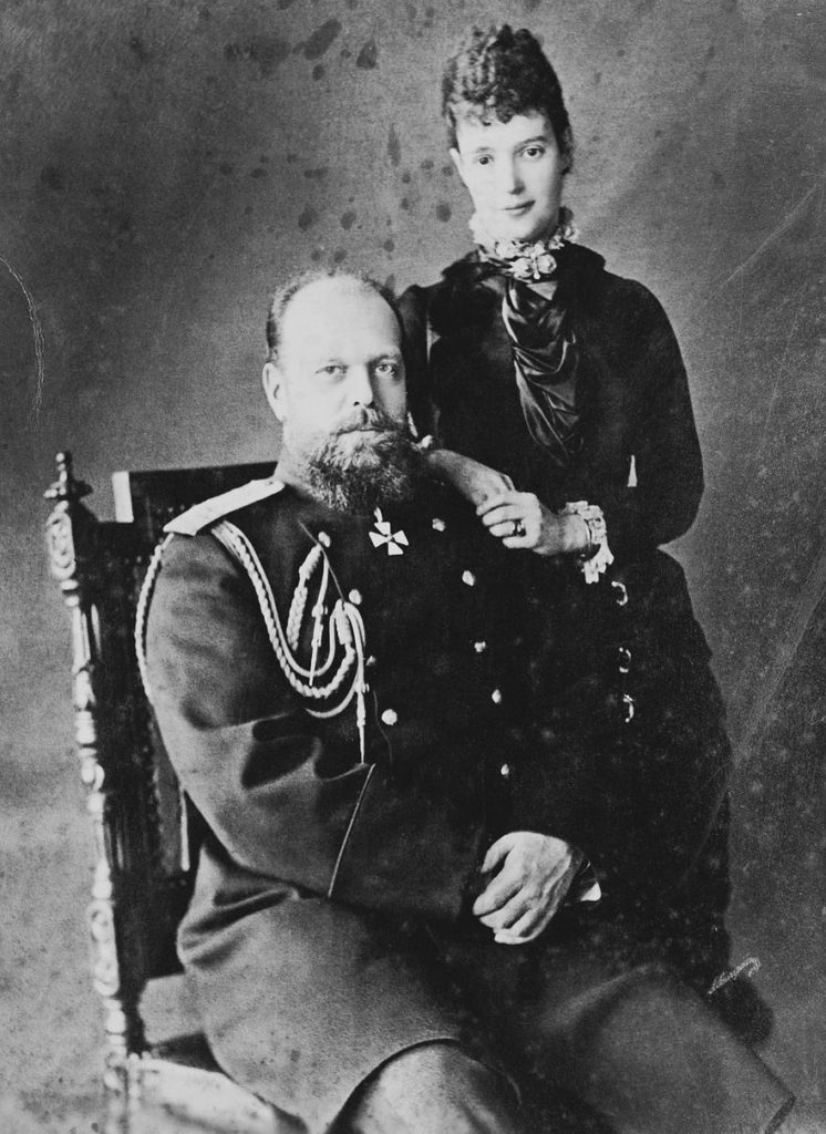 Александр III с женой Марией Федоровной