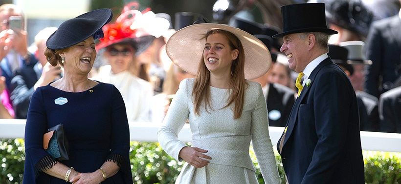 Принц Эндрю и Сара Фергюсон в Royal Ascot