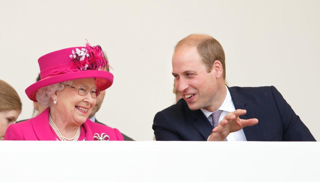 Принц Уильям и королева Елизавета