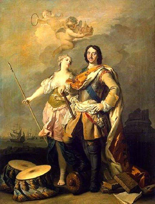 Петр Великий и Анна Монс
