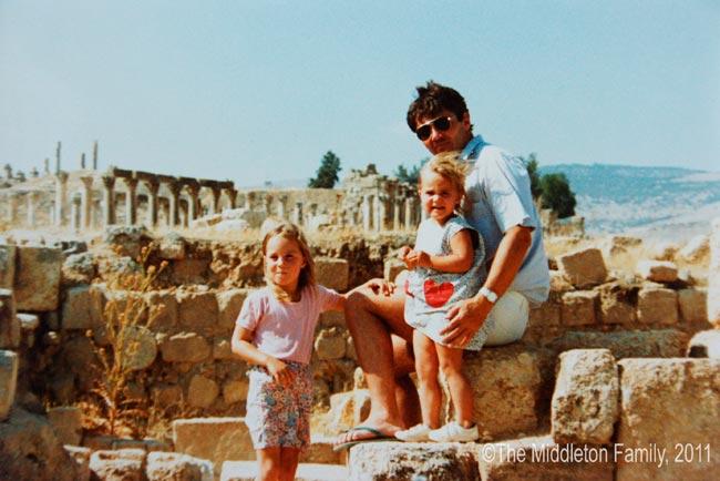 Миддлтоны, когда они жили в Иордании