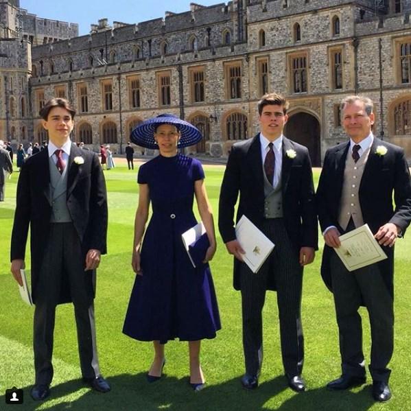 Артур Чатто на свадьбе принца Гарри и Меган Маркл со своей семьей