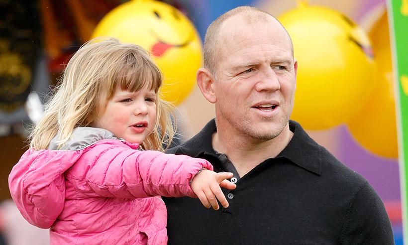 Майк Тиндалл с дочерью Мией