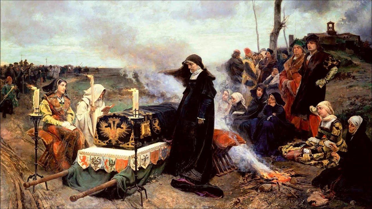 Хуана I у гроба мужа