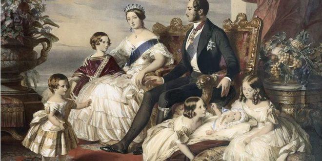 картина Фредерика Винтерхальтера показывает королеву Викторию и принца Альберта с 5 из их детей. © Исторический фотоархив / CORBIS / Corbis через Getty Images