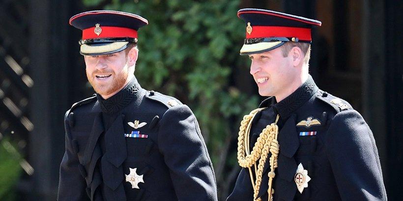 принц Гарри и принц Уильям на свадьбе Гарри