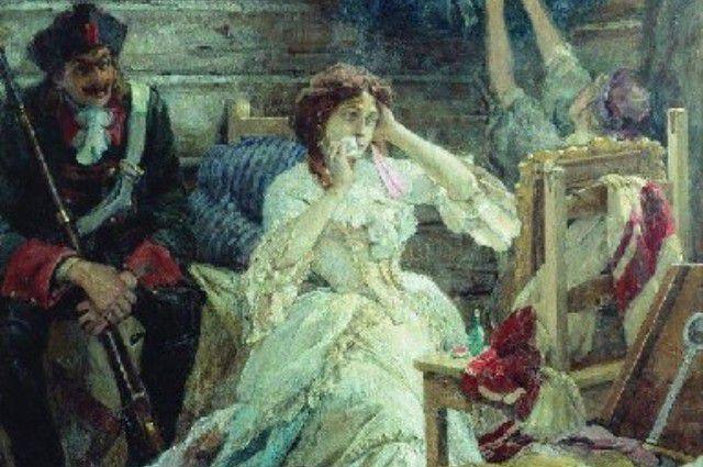 Мэри Гамильтон перед казнью. Картина Павла Сведомского.