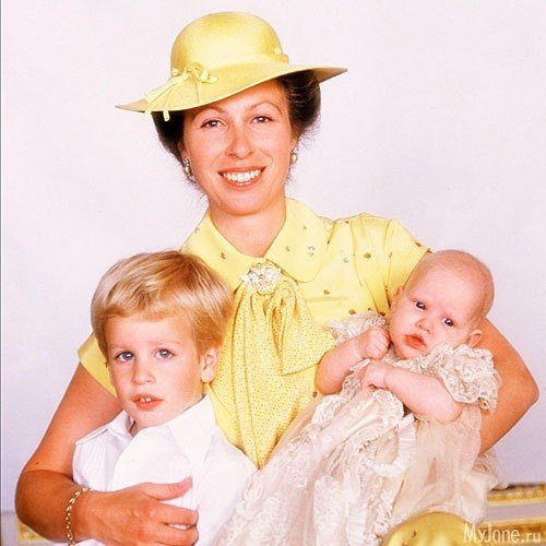 Королевская принцесса Анна с сыном Питером и дочерью Зарой 27 июля 1981 года