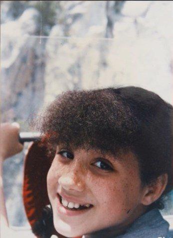 улыбка Меган Маркл в детстве