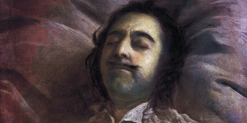Петр I на смертном одре. Картина Ивана Никитина.