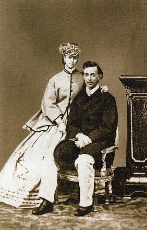 Цесаревич Николай с датской принцессой Дагмарой