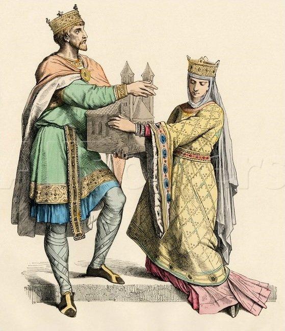 Людовик VII и Элеонора Аквитанская