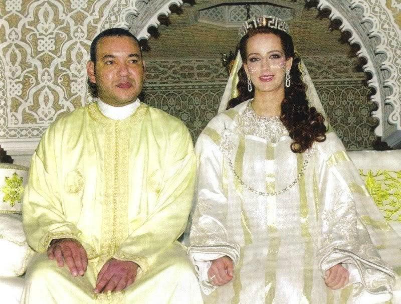 Лалла Сальма с мужем(свадебное фото)