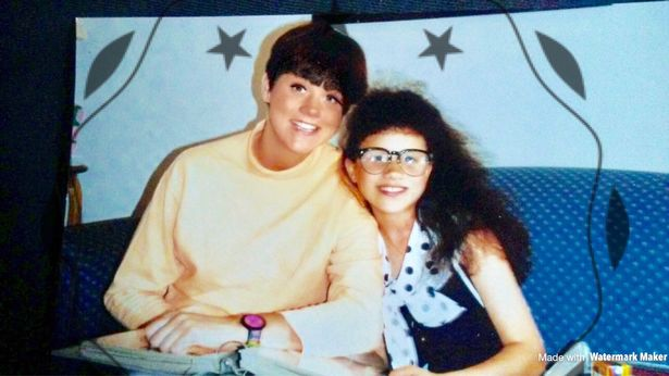 Саманта с Меган, когда ей было 12 лет