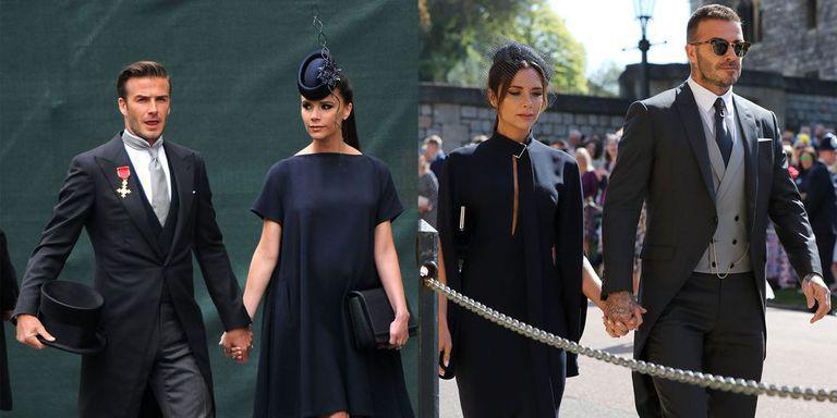 Бекхэмы на королевских свадьбах 2011 и 2018 годов