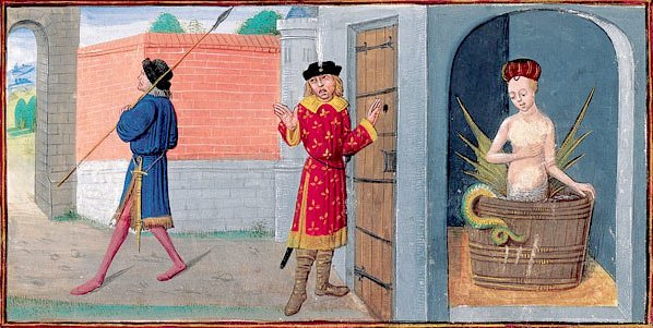 Раймондин узнаёт секрет Мелюзины (1410 год)