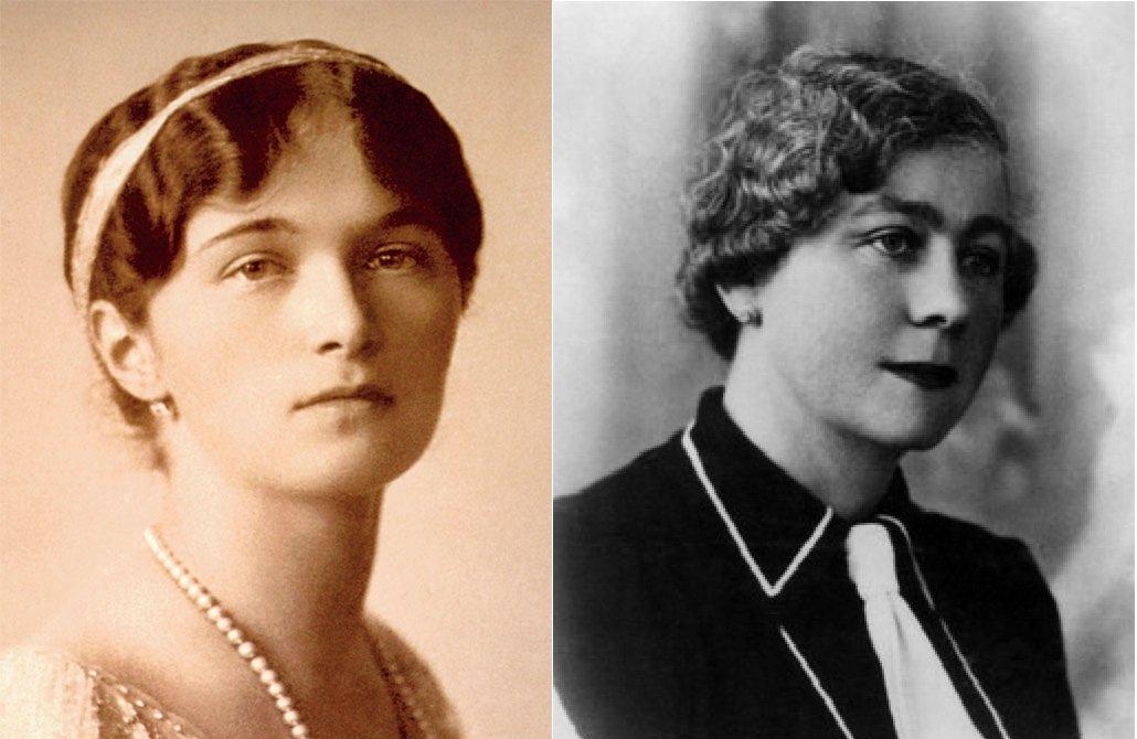 Слева - великая княжна Ольга, справа - Марга Бодтс