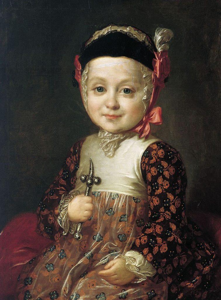 Алексей Бобринский в младенчестве. Портрет работы Фёдора Рокотова, 1763г.