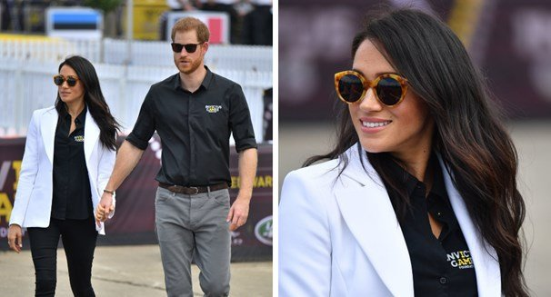 Гарри и Меган посетили Jaguar Land Rover Driving Challenge