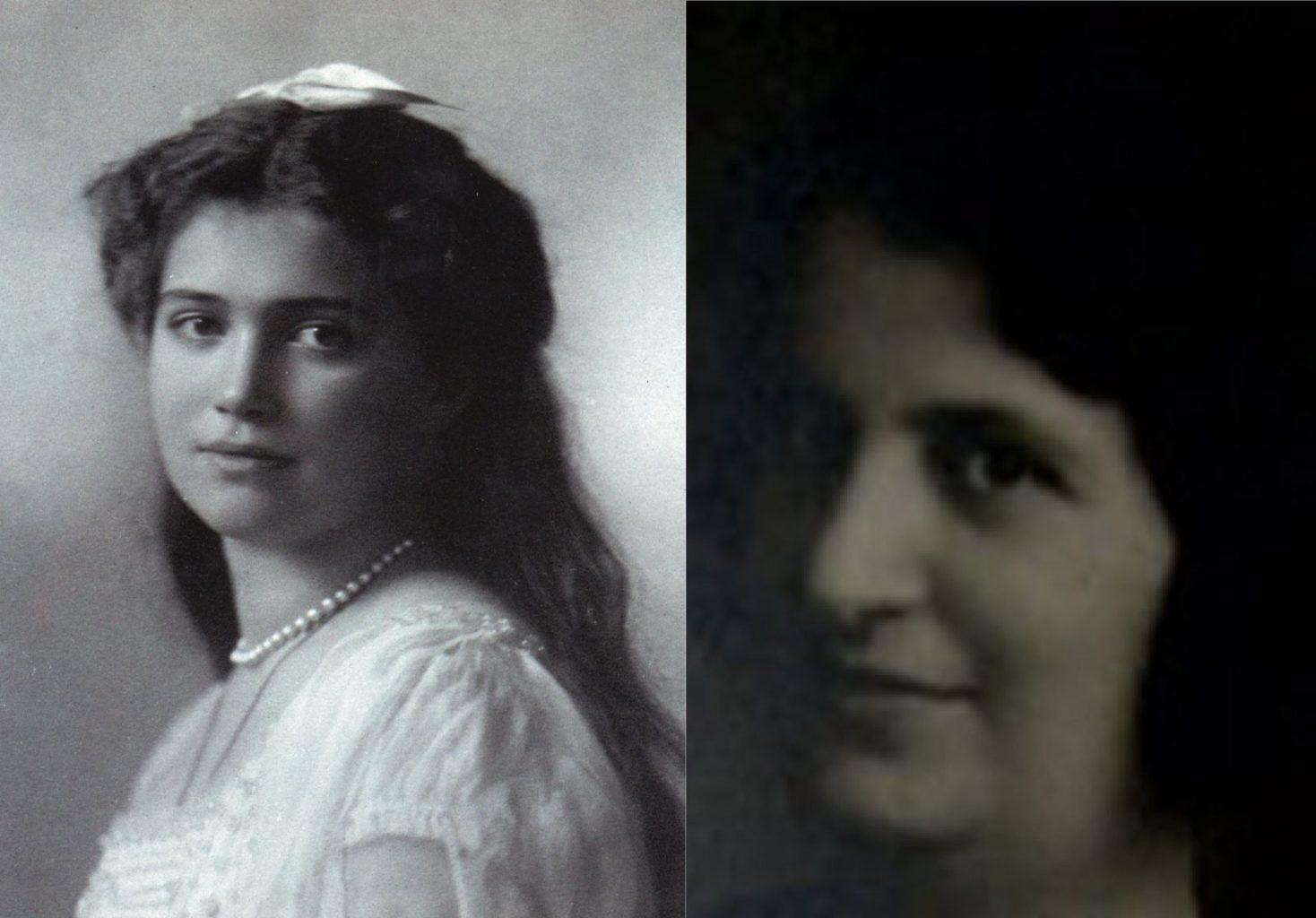 Слева - великая княжна Мария, справа - Аверис Яковелли
