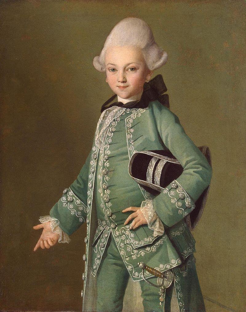 Алексей Бобринский. Портрет работы Карла Людвига Христинека, около 1770г.