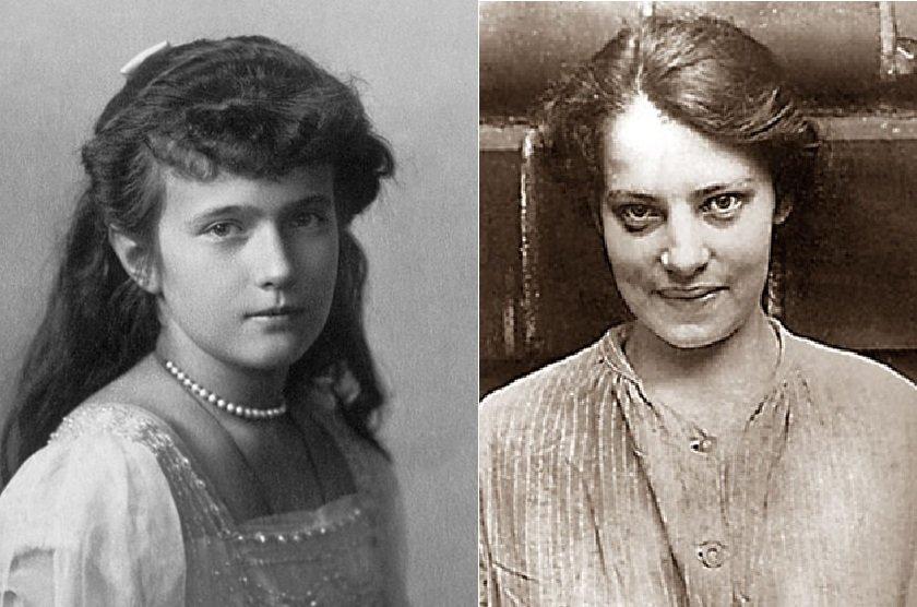 Слева - великая княжна Анастасия, справа - Анна Андерсон