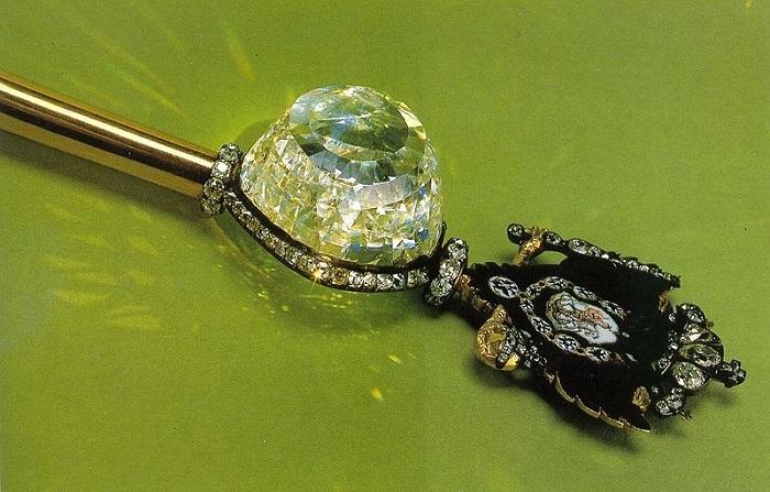 Скипетр, 1770-е годы Золото, серебро, эмаль, бриллианты