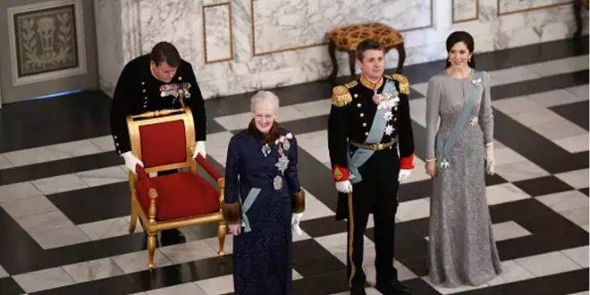 Королева Маргрете, наследный принц Фредерик и кронпринцесса Мария