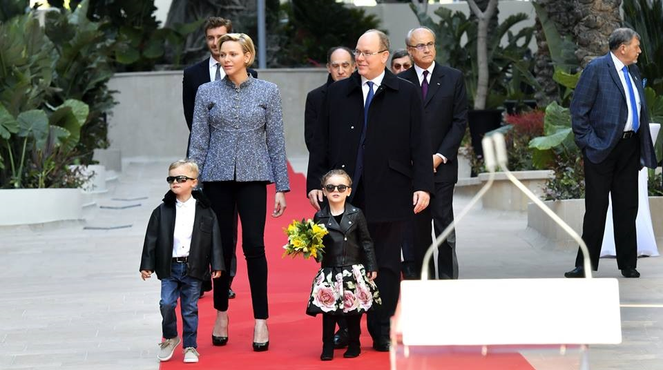 "Photo of Князь Монако с семьей на открытии ""One Monte-Carlo"""