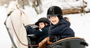 Принцесса Швеции Эстель сломала ногу, катаясь на лыжах