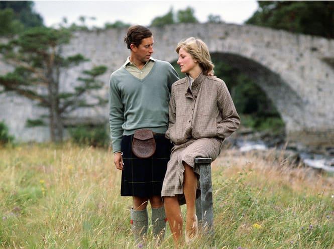 Диана и Чарльз в Балморале, где прошла заключительная часть их медового месяца