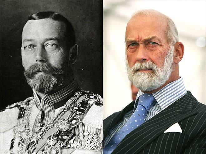 Король Георг V и внук принц Майкл Кентский