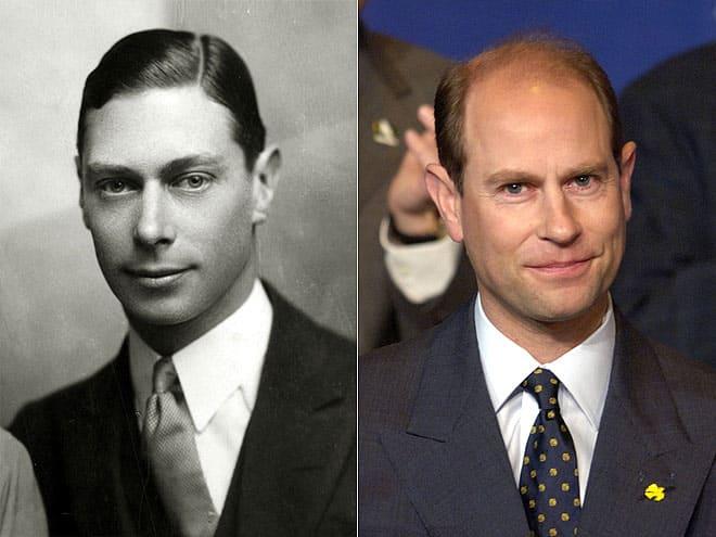 Король Георг VI и его внук принц Эдвард