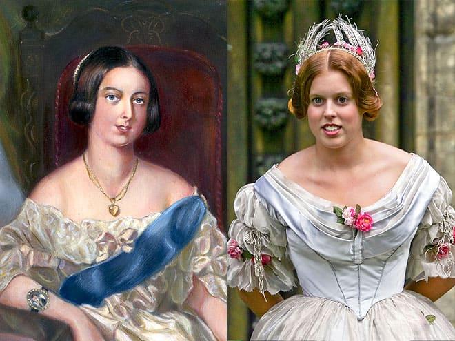 Королева Виктория и пра-пра-пра-пра-правнучка принцесса Беатрис