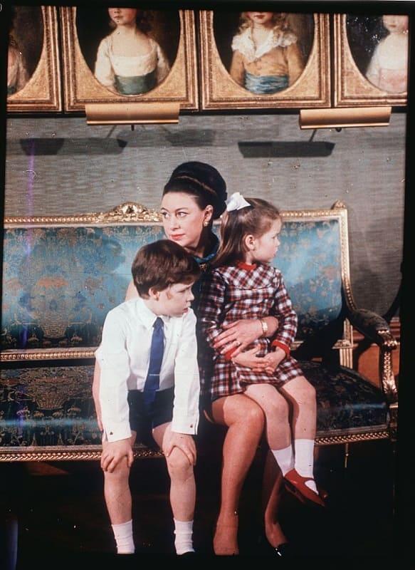 Принцесса Маргарет на съемках фильма
