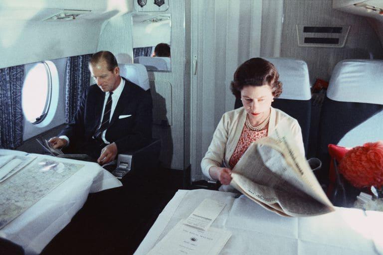 Елизавета в частном самолете