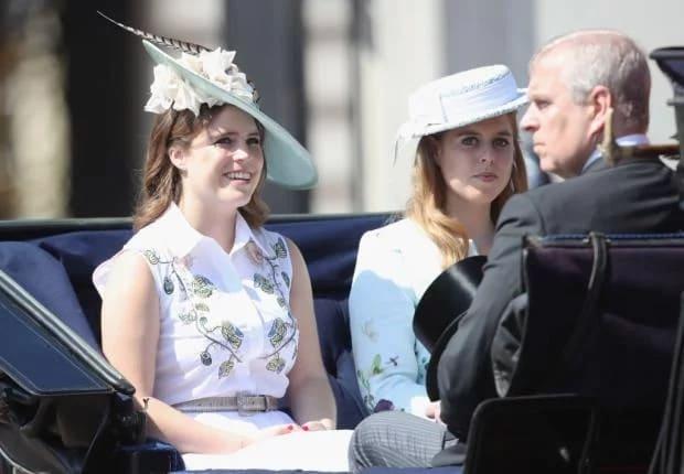 Принцесса Евгения и Беатрис с отцом